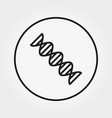 helix dna icon editable thin line vector image vector image