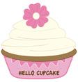 Hello Cupcake vector image vector image