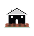 house with color art vector image vector image