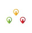 location point logo vector image