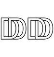 logo dd icon sign two interlaced letters d vector image vector image
