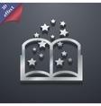 Magic Book icon symbol 3D style Trendy modern vector image