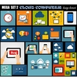 Mega Set Flat Computer Design vector image vector image
