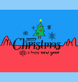merry christmas and happy new year drawn style vector image vector image
