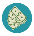 money dollar cash colorful icon vector image vector image