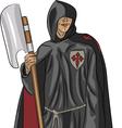 monk vector image vector image