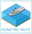 Motor Yacht flat Rowboat isometric vector image vector image
