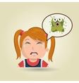 nurse tooth sick pain vector image vector image