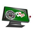 online gambling symbol vector image vector image