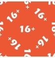 Orange 16 plus pattern vector image vector image