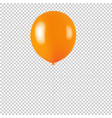 orange balloon isolated transparent background vector image