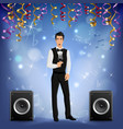 party celebration singer realistic vector image vector image