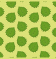 pattern color set decorative of green leaves vector image