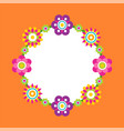 photo frame made abstract flower blossoms vector image