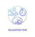 relaxation time concept icon vector image
