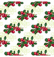 seamless pattern cowberry vector image vector image