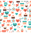 seamless pattern for Valentine day date and wed vector image