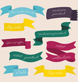 Set of design sale discount styled banners ribbons vector image