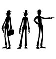 silhouettes tall vector image vector image