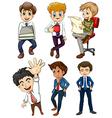 Six businessmen vector image