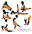 stretching people vector image vector image