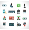 Subway Icons Set vector image vector image