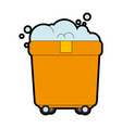toilet trolley with wheels vector image