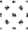 toy train pattern seamless black vector image vector image