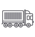 truck cargo container line icon sign vector image vector image