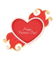 Valentines heart isolated on white background vector image