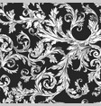 vintage flora and foliage sketch seamless pattern vector image