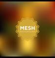 warm olive mesh background vector image vector image