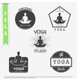 Yoga studio fitness and meditation class Set of vector image