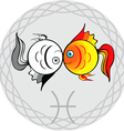 zodiac signs pisces vector image vector image
