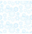 Seamless snowflake pattern for christmas vector image