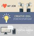 Flat design concept for job idea social media vector image