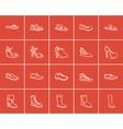 Shoes sketch icon set vector image