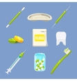 Dentist Icons and Teeth Care Set vector image