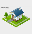 isometric house on ground vector image