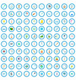 100 research and development icons set vector image vector image