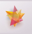 3d glass geometric star symbol business icon vector image vector image
