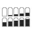 a set of ten batteries vector image