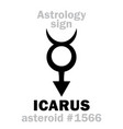 astrology asteroid icarus vector image vector image