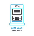 atm cash machine concept outline icon linear vector image vector image