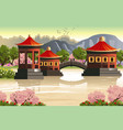 background of chinese temples vector image vector image