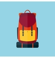 Backpack flat style icon vector image