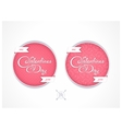 Badge for Valentines Day vector image