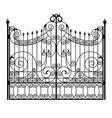 black wrought iron gates vector image