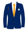 Blue suit and tie vector image vector image