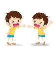 boy angry shouting vector image vector image